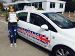 LAUREN CHERRY passed with Independence Driving School