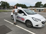 LEAH THOMPSON passed with Independence Driving School