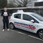 LEE MILNE passed with Independence Driving School