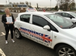 MADDY GENT passed with Independence Driving School