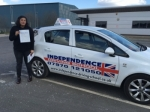 RAJ SANDHU passed with Independence Driving School