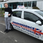 RILEY DANIELS  passed with Independence Driving School