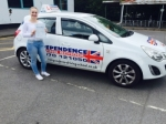 Tetyana(Tania) Tymofiychuk passed with Independence Driving School