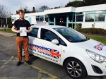 TOM LEWIS passed with Independence Driving School