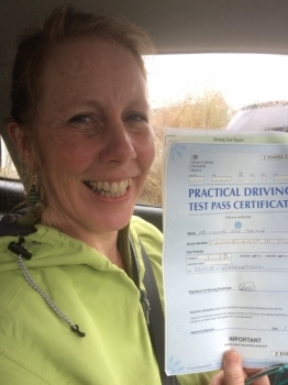 Well who said you can't teach an old dog new tricks. Never thought I'd be at the wheel of a car, let alone pass my test. But thanks to Angela I've found a new confidence and very useful skill indeed <br /> <br /> With buckets of patience and a calm and encouraging manner. I highly recommend Angela. Many many many thanks,  jay xx