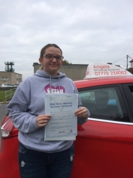 Excellent Driving Instructor <br /> <br /> Very patient and explained things very well, which helped me pass first time and with only 1 minor fault. Angela gave me the confidence to be able to drive, highly recommend