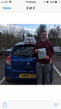 Would highly recommend Paul<br /> <br /> <br /> <br /> Passed First time with only 2 minor faults. I know I wouldn't have done it without Paul's calming confident nature
