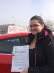 Shakira Pattern passed with Angela Driving School