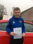 Osian Llewellyn passed with Angela Driving School