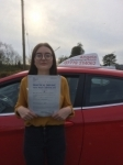 Rachel Hughson passed with Angela Driving School