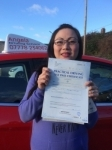 lanie passed with Angela Driving School