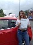 Courtney Davies passed with Angela Driving School