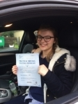 Ffion Jones passed with Angela Driving School