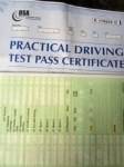 Nia Lowri Jenkins  passed with Angela Driving School
