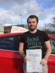 Gareth James passed with Angela Driving School
