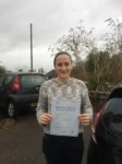Abigail Worrall passed with Angela Driving School