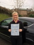 Jessica Fyfield passed with Angela Driving School