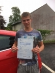 Kieran Sefton passed with Angela Driving School