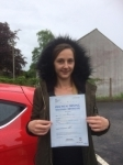 Saffron Rees passed with Angela Driving School