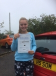 Kia Necke passed with Angela Driving School