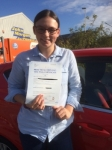 Hannah Hall passed with Angela Driving School