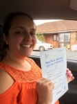 Megan Moore passed with Angela Driving School