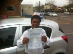 Ali Wood Green passed with ABC Driving School
