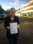 Clair, LONDON passed with ABC Driving School
