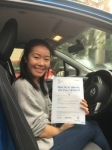 Gabriela, Finchley passed with ABC Driving School