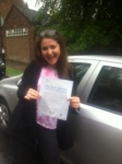Marisa, HAMPSTEAD passed with ABC Driving School