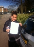 Mona, MILL HILL passed with ABC Driving School