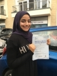 Sama passed with ABC Driving School