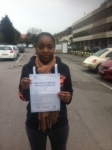 Siti passed with ABC Driving School
