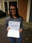 Vanesa passed with ABC Driving School