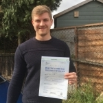 Thomas, Friern Barnet passed with ABC Driving School