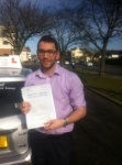 Adam, Muswell Hill passed with ABC Driving School