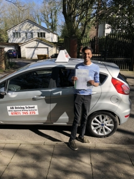 Well done for passing your test at Bolton today.  Congratulations.