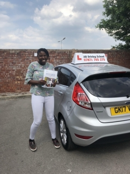 Well done to Aji Njie for passing her practical test at Sale.  Congratulations and safe driving.