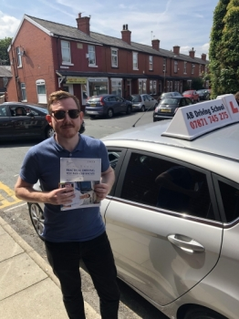 Congratulations goes to Andrew Ryan for passing his practical test in Cheetham Hill on 25/7/18....