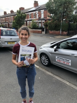Well done for passing your test today in Sale.  Stay safe on the roads....