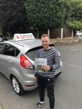Well done to Michael for passing his practical test in Cheetham Hill.