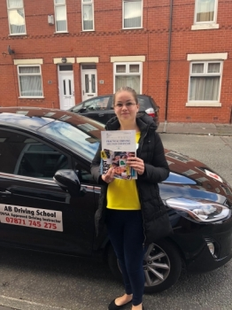 Congratulations to Roosje for passing her practical test on 19/10/18 at Cheetham Hill.  Well done.