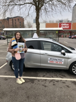 Congratulations to Laura Cousins for passing her practical test on Thursday 12th April 2018 Well done and stay safe