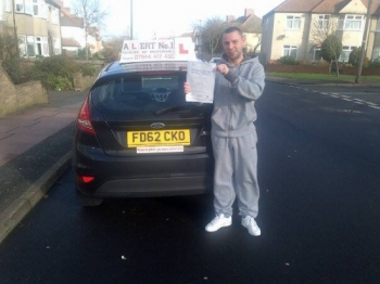 Ronnie passed with no errors the examiner was very impressed excellent drive Ronnie :-