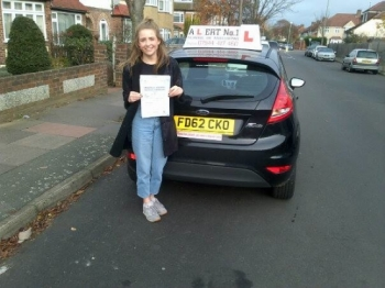 Passed fourth time with a few minor errors she was very nervous with examiners but excellent driver with me