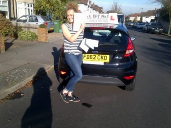 Taylor passed first time with a few minor errors