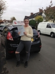 Lauren passed with Alert No1 School of Motoring