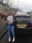 nicole passed with Alert No1 School of Motoring