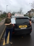 Alison passed with Alert No1 School of Motoring