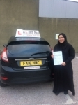 Ameena passed with Alert No1 School of Motoring